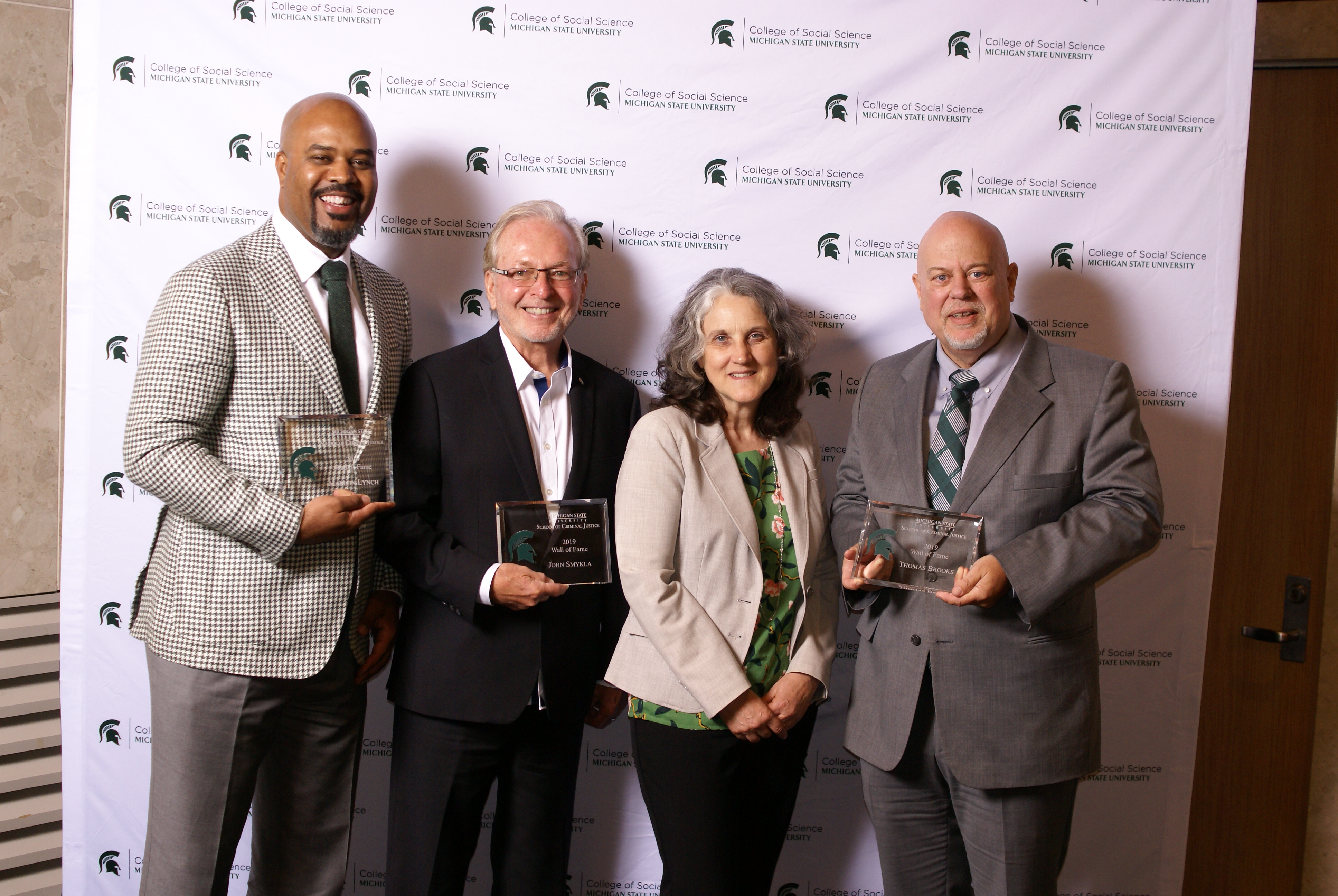 Marlon Lynch, Dr. John Smykla, Mary Finn (Director), and Thomas Brooks